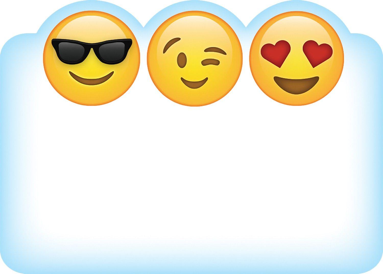 Classroom Design Lakeshore Learning ~ Emojis name tags smileys pinterest emoji names cool
