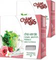 Chá Verde com Rosas, Jasmim e Hibisco - Sabor Framboesa - 10 Sachês x 1,3g - Chá Mais
