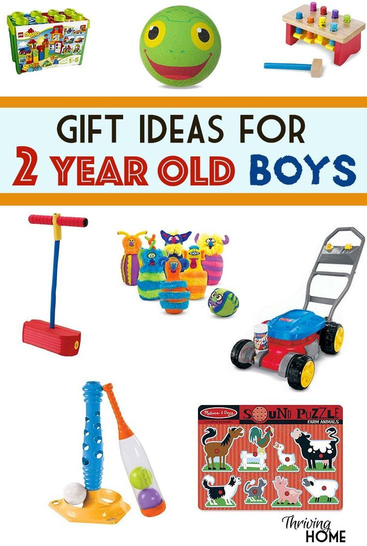 A great collection of gift ideas for two year old boys. Pinning this ...