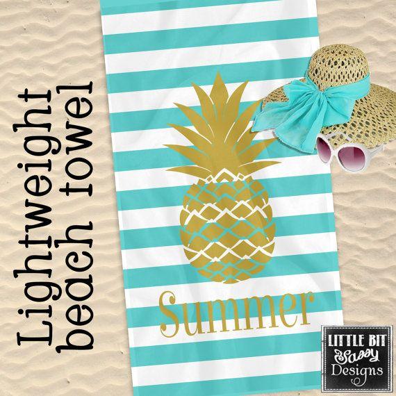 pineapple beach towel chevron by - Monogrammed Beach Towels