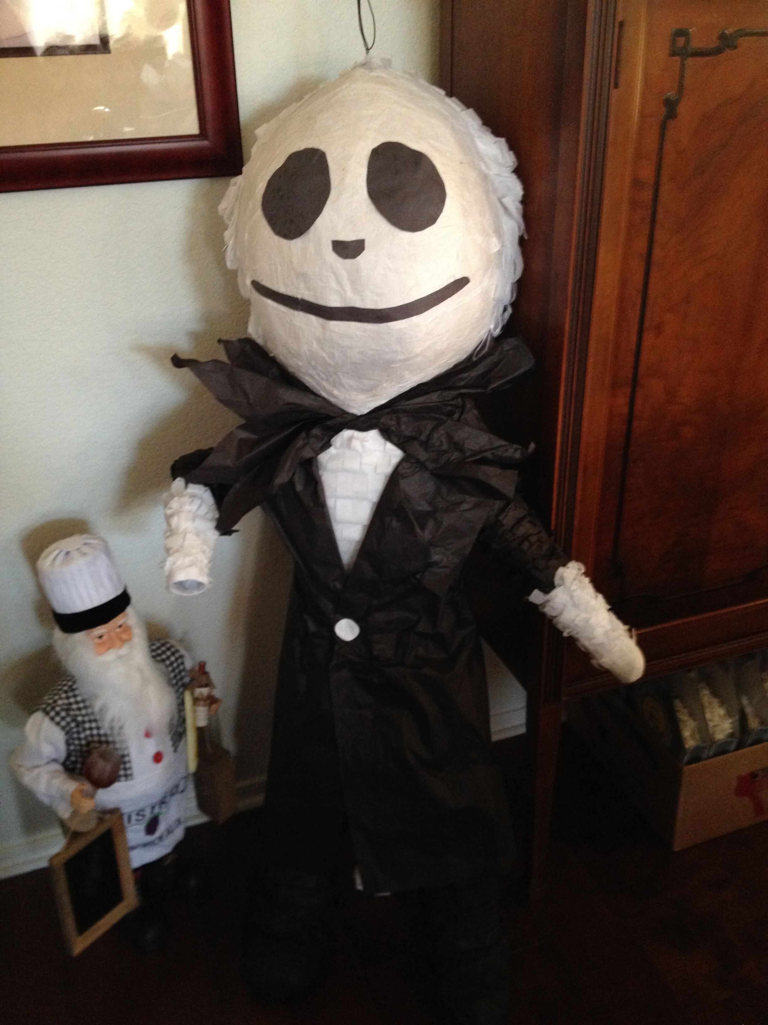 This was our adorable piñata of Jack Skellington custom made by La
