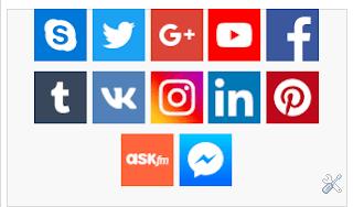 اضافة ايقونات التواصل الاجتماعي في بلوجر بشكل إحترافي Social Media Social Media Blogger Social