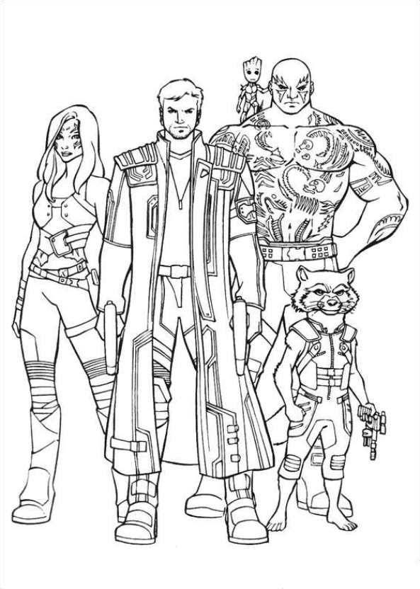 Kleurplaten Marvel Avengers.Print Gardiens Of The Galaxy 20 Kleurplaat Kleurplaten