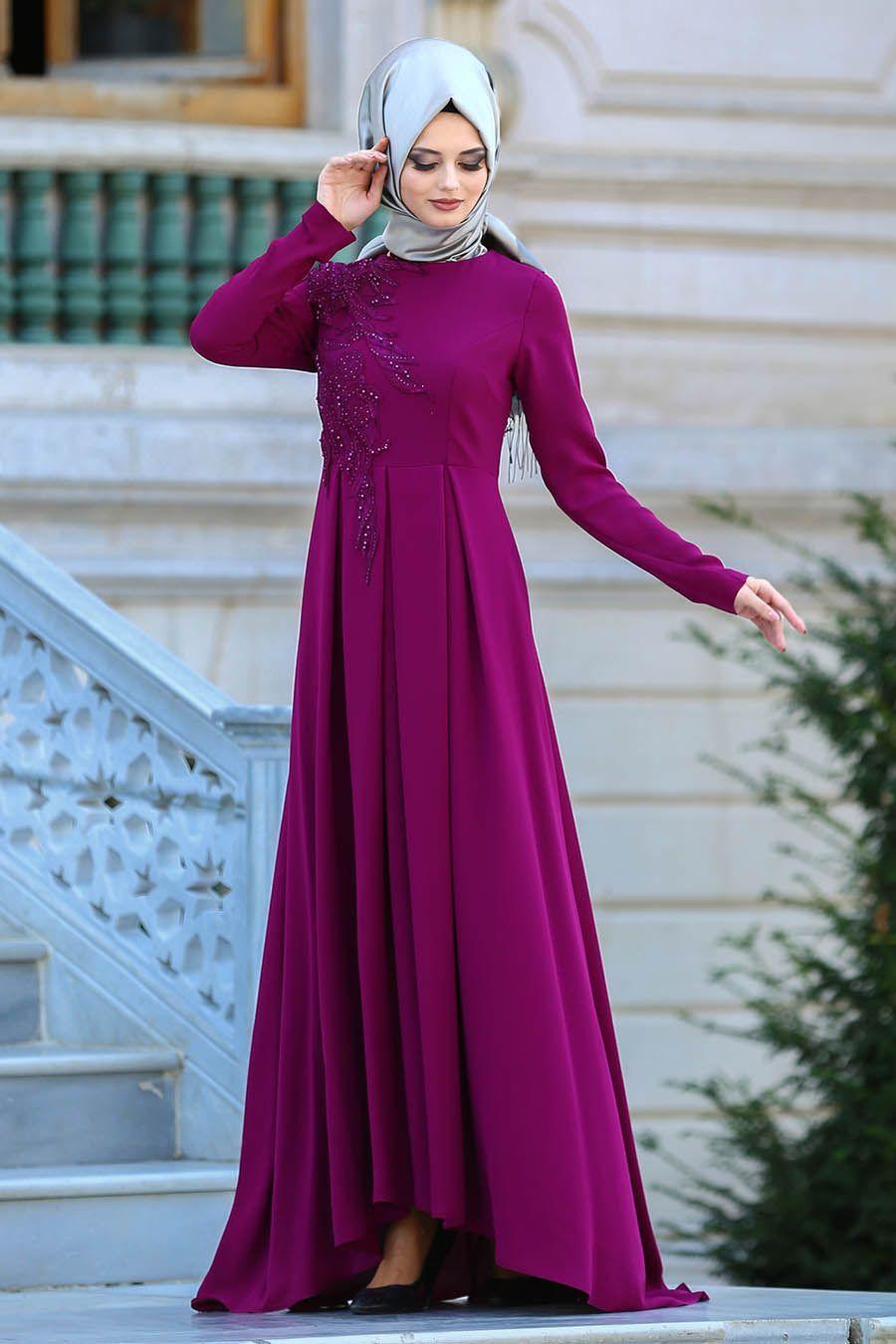 e54bceb7e304b Neva Style Tesettür Pileli Abiye Elbise Modelleri - Moda Tesettür Giyim