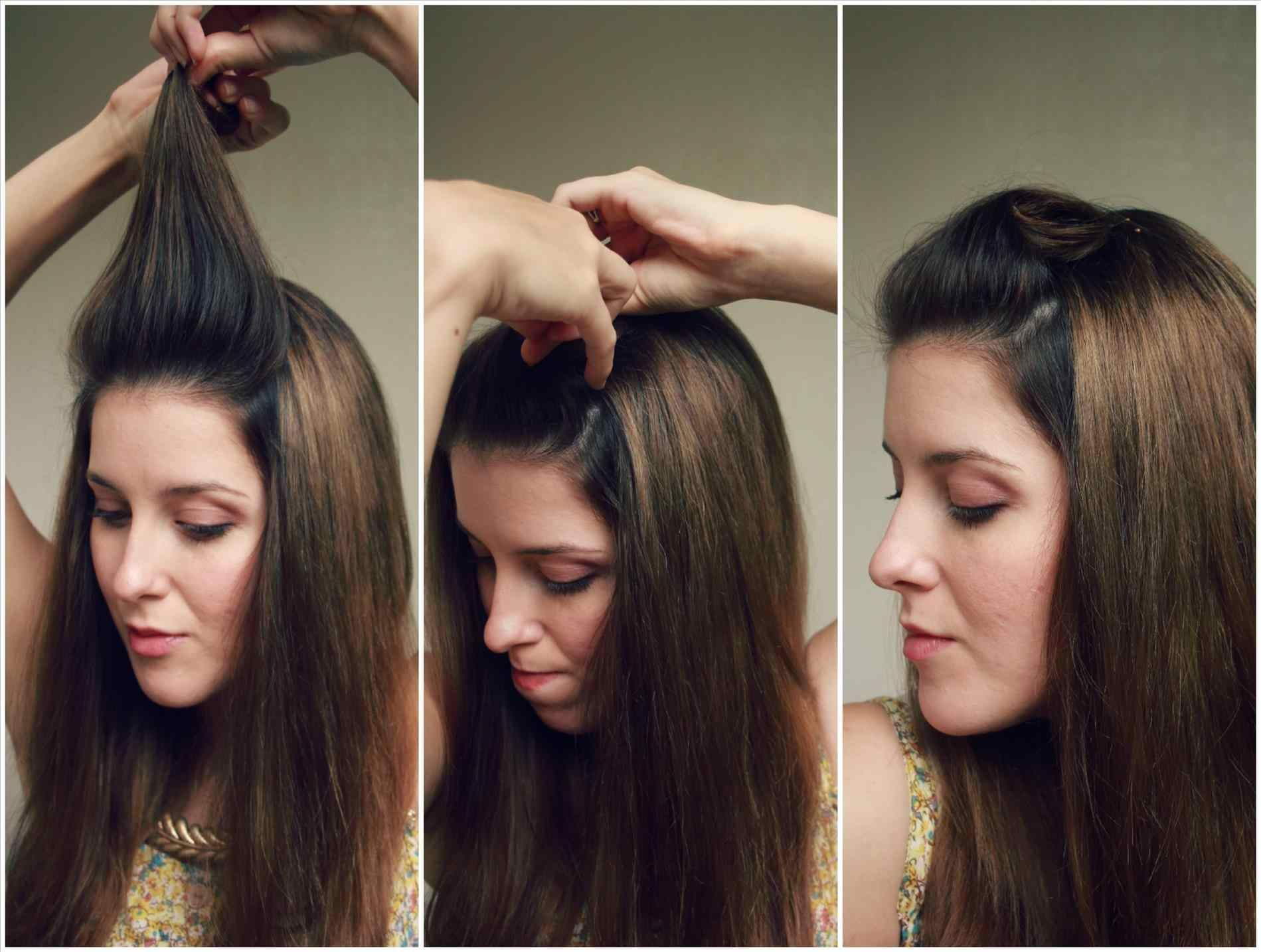 side-bump-hairstyle-cute-for-girls-collections-Easy-Front