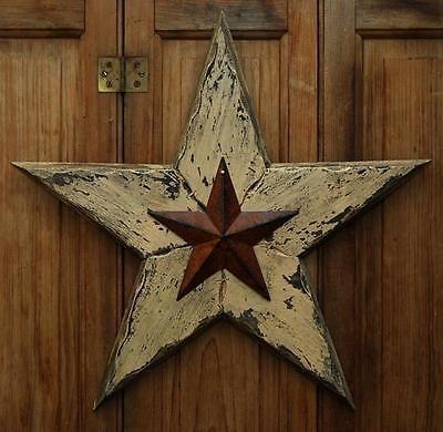 Antique Rusty Tin Barn Star Primitive Rustic Farmhouse Decor