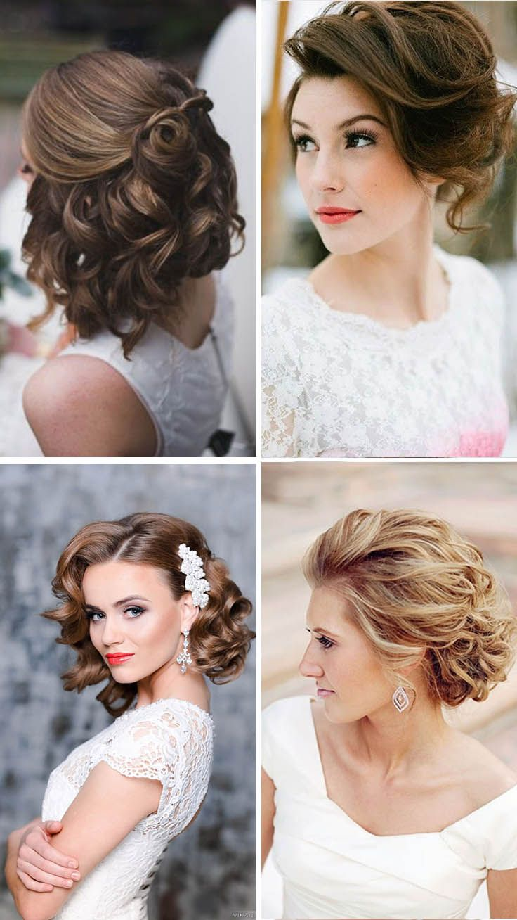 48 Trendiest Short Wedding Hairstyle Ideas Wedding Forward Short Wedding Hair Bride Hairstyles Short Hair Styles