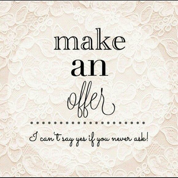 Open to all reasonable offers!! Make me an offer that I can't refuse! Jewelry