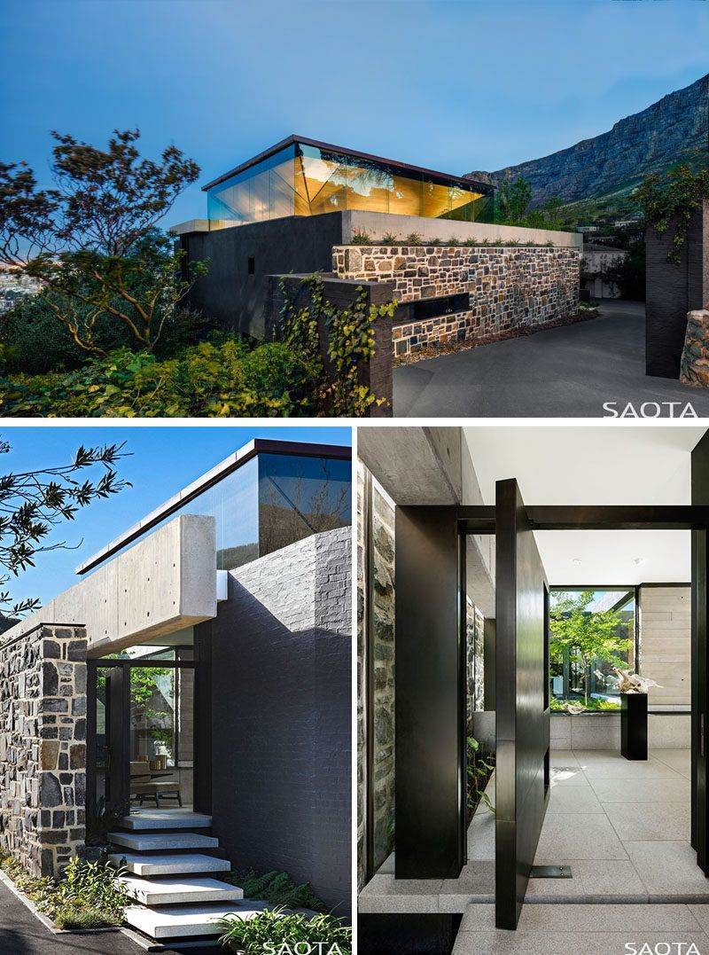 An Inverted Pyramid Roof Allows Light To Enter This Home In A Unique Way Architecture House Architecture Modern Architecture Building