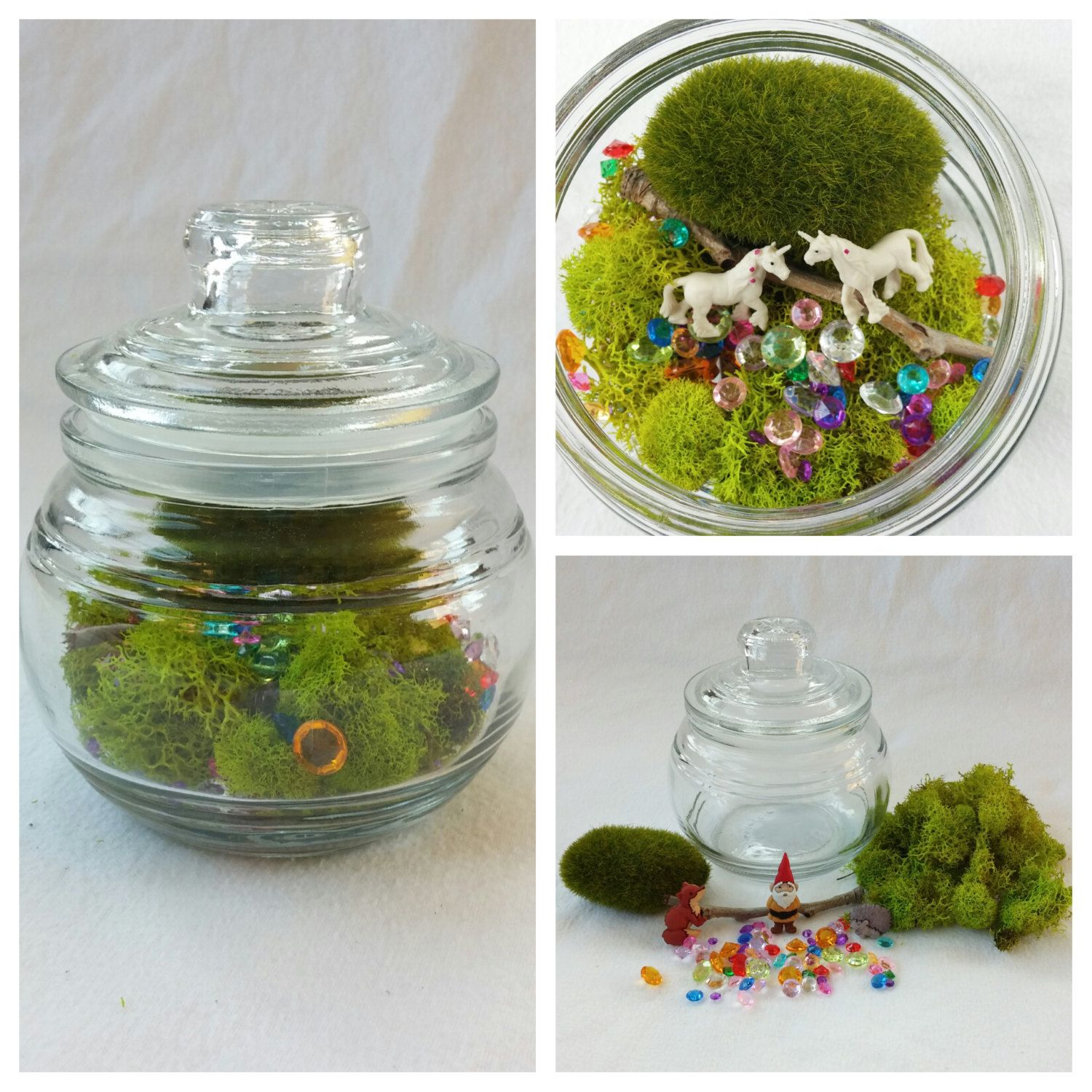 Enchanted Unicorn Terrarium With A Twist Woodland Forest Animal Open Ended