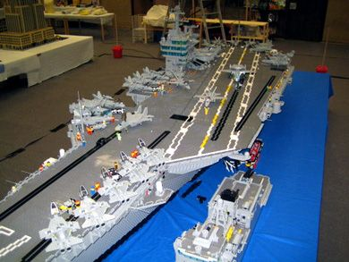 Lego Aircraft Carrier Techeblog Artifacts Cool Objects Lego