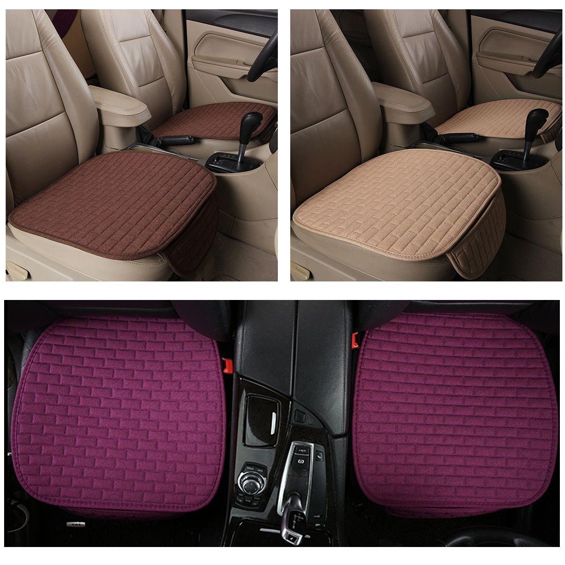 Dewtreetali Universal Seat Covers Car Seat Protector Flax Single Non Slip Cushion Warm Car Seat Cover For Auto Car Seats Car Seat Protector Diy Car Seat Cover