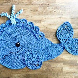 Crochet Pattern Joyce And Justin Whale Rug Nursery Mat Carpet Etsy In 2020 Crochet Patterns Crochet Patterns Free Blanket Crochet Whale