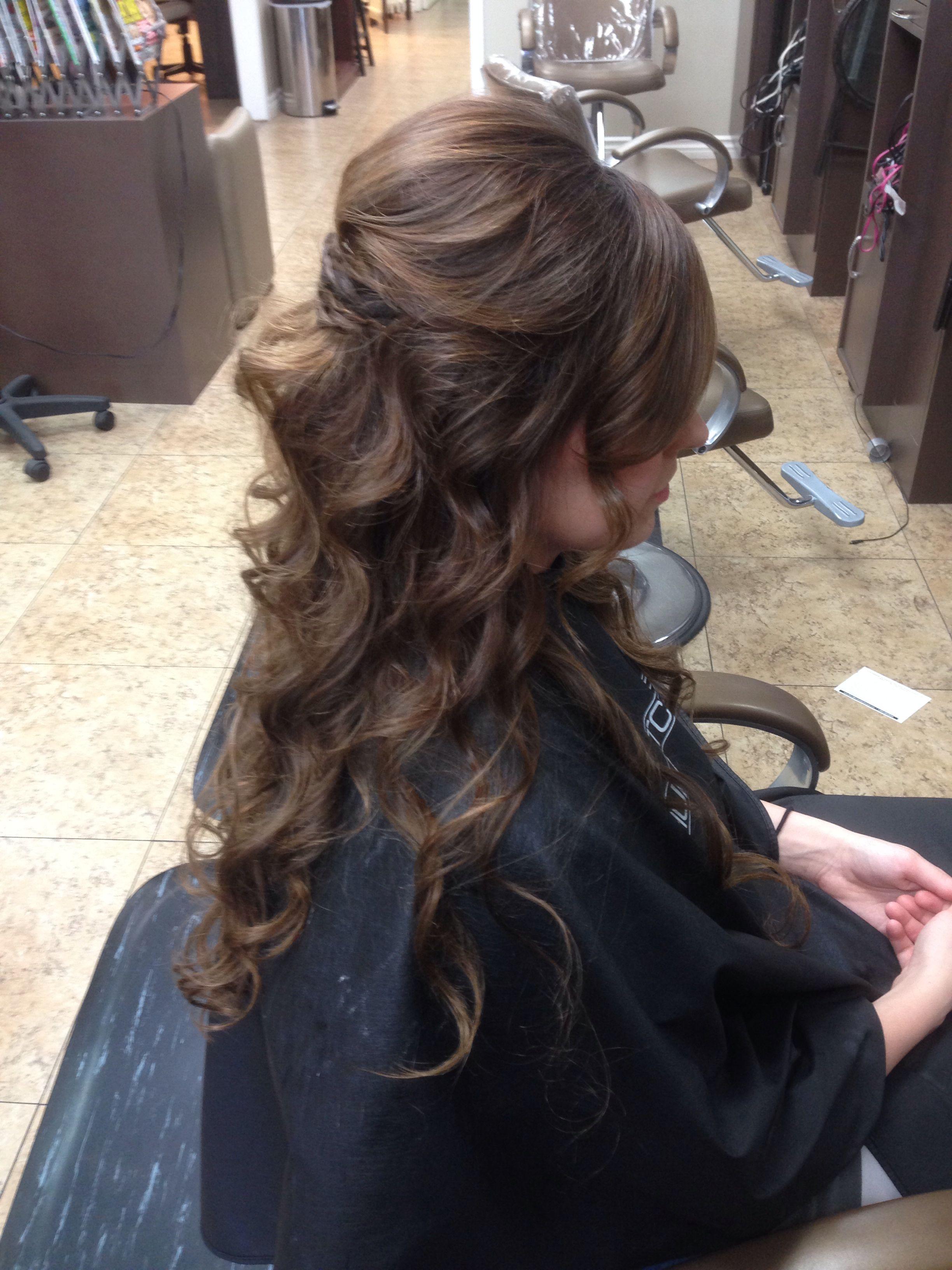 Long hair bride.