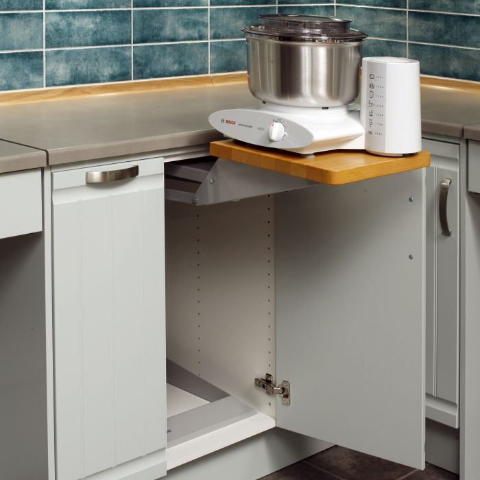 Universal Design Kitchen Cabinets: Granberg // Kitchen Appliance Lift