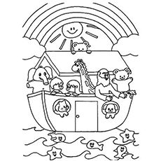 Top 10 'Noah And The Ark' Coloring Pages Your Toddler Will ...