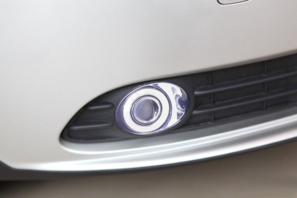 124.50$  Buy now - http://aliijg.worldwells.pw/go.php?t=32484516502 - New Innovative COB Angel Eye daytime running light + halogen Fog Light Projector Lens for volvo s40, 2 pcs