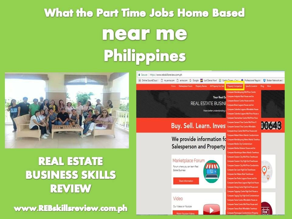 What the Part Time Jobs Home Based near me Philippines