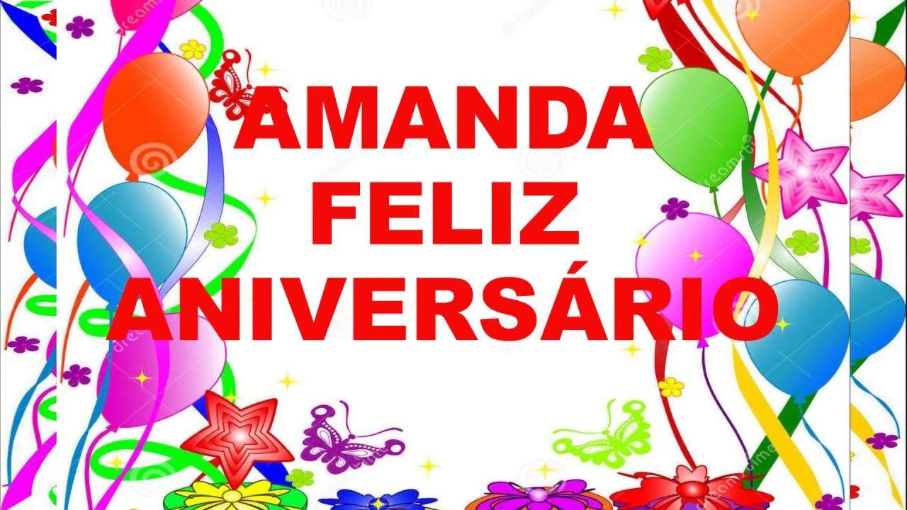 Mensagem Feliz Aniversario Amanda Meus Parabens E Muitas
