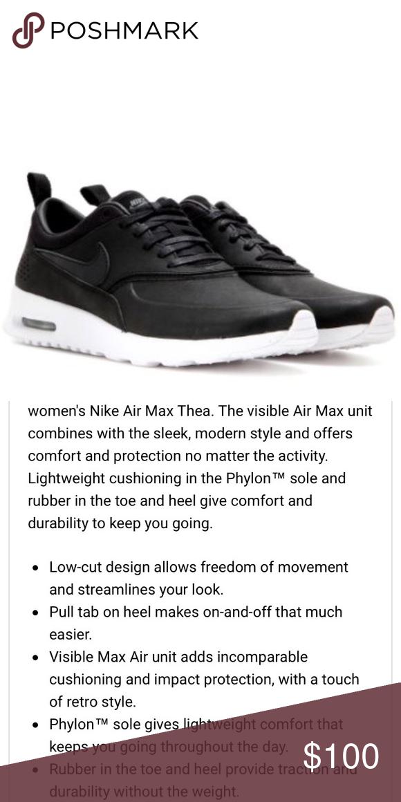 Nike Black Air Max Thea Leather