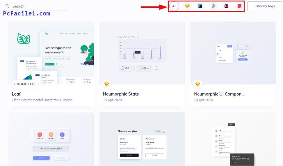 تحميل تصاميم واجهات مستخدم جاهزة للاستخدام والتعديل Desktop Screenshot Trick Screenshots