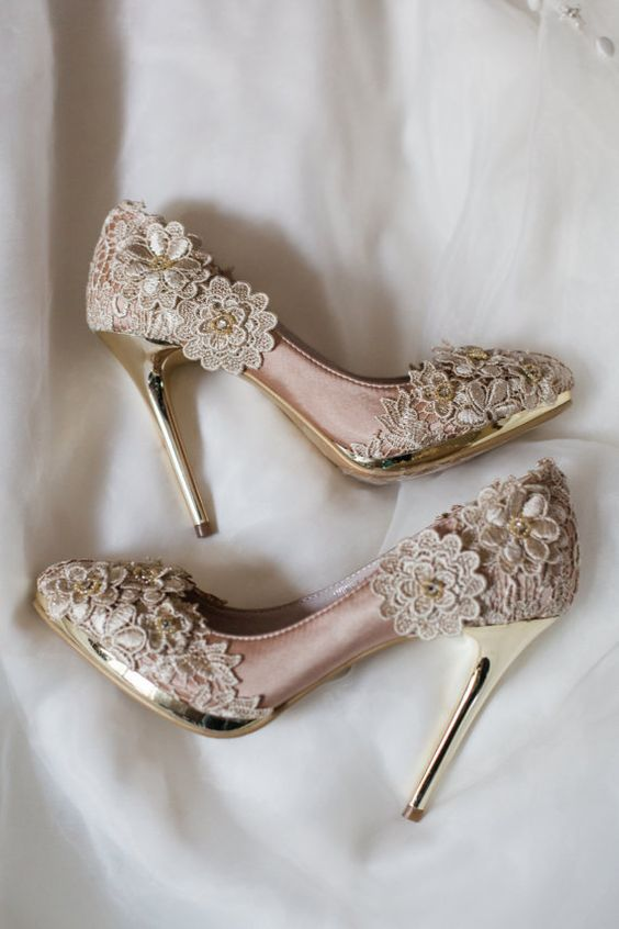 Champagne Wedding Shoes 1