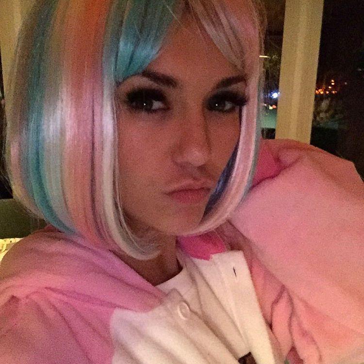 """Nina Dobrev On Instagram: """"Multicolor Hair Don't Care"""