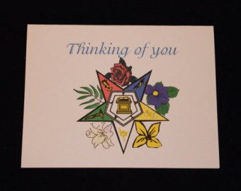OES Thinking of you Blank note card