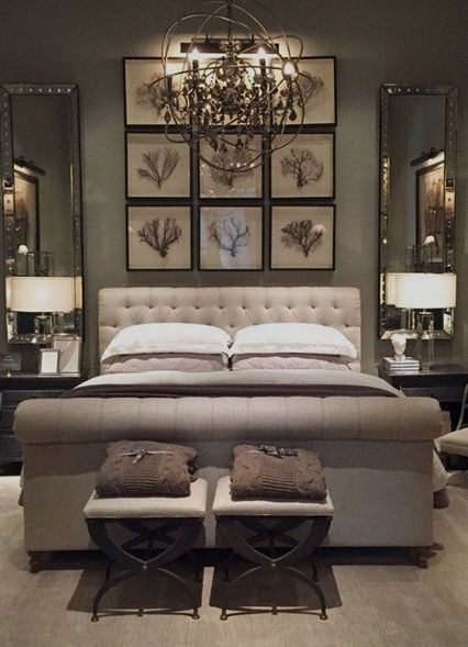 Love the use of mirrors next to the bed, to reflect more ... on Mirrors Next To Bed  id=23165