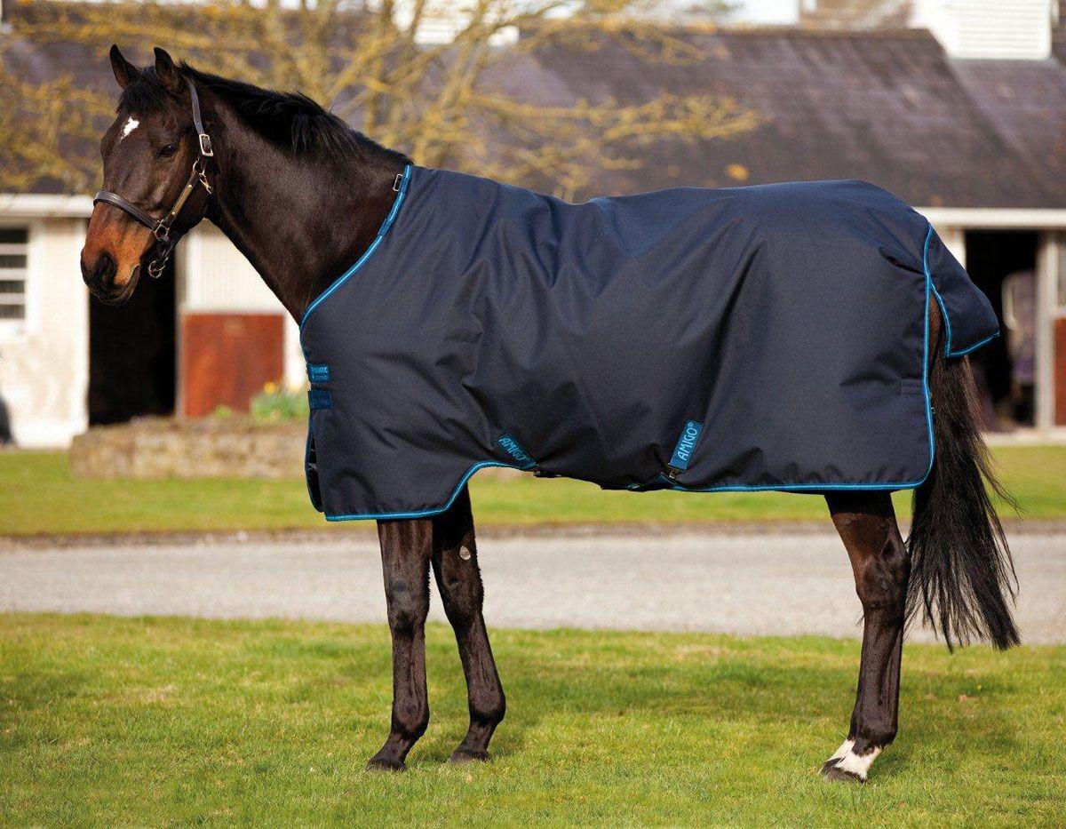 Amigo bravo 12 lite weight turnout horse blanket navyblue
