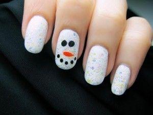 Uñas de muñeco de nieve.