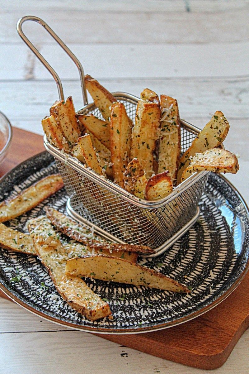 Air Fryer Garlic Parmesan Truffle Potato Wedges Pixels