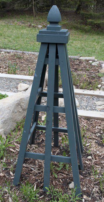 Plans For A Cedar Obelisk | Garden Obelisk   By Mtkate | GardenTenders.com  :: Gardening Community