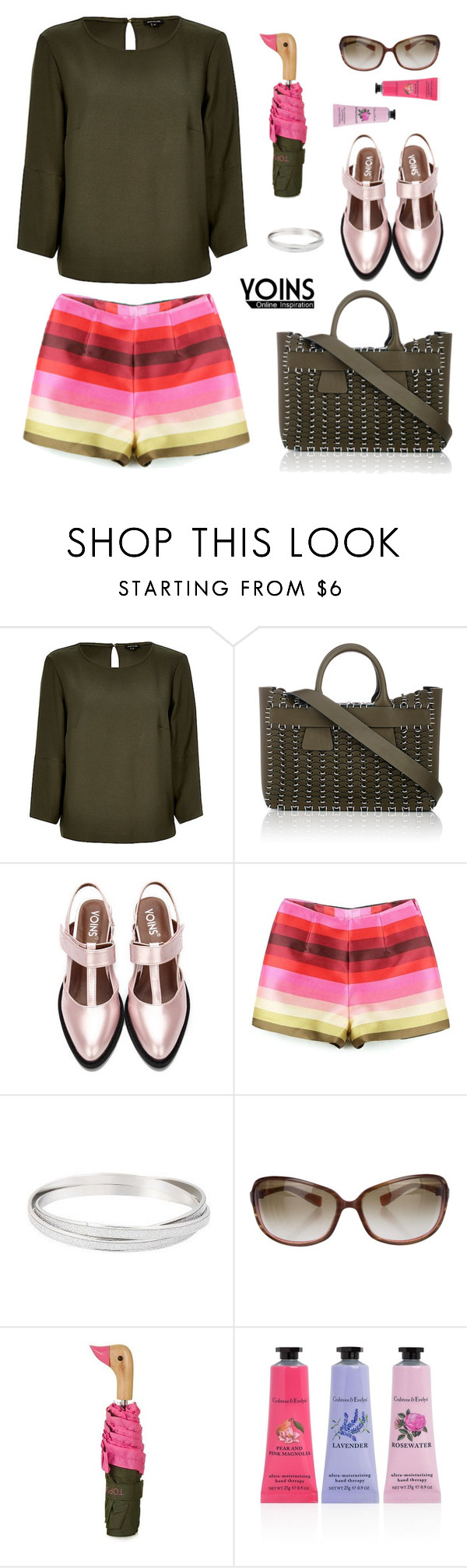 """""""Yoins quatre"""" by natcatt ❤ liked on Polyvore featuring Paco Rabanne, Oliver Peoples, Topshop, Crabtree & Evelyn, yoins, yoinscollection and loveyoins"""