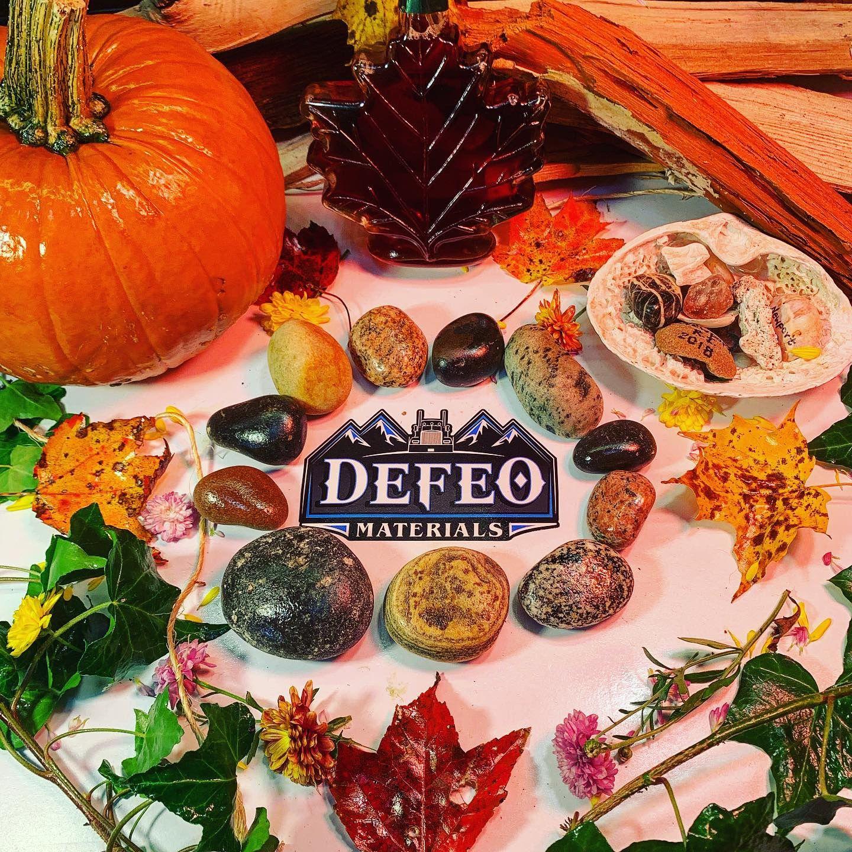 Fall at defeo materials river rock material