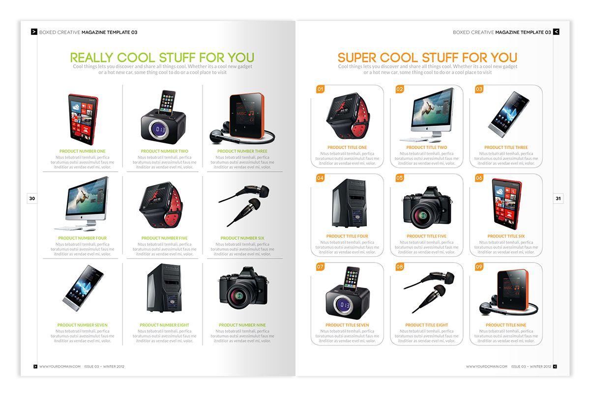 Magazine Template - InDesign 56 Page Layout V2 on Behance | Kkdesign ...