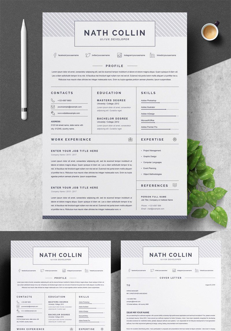 Nath collin resume template in 2020 resume template