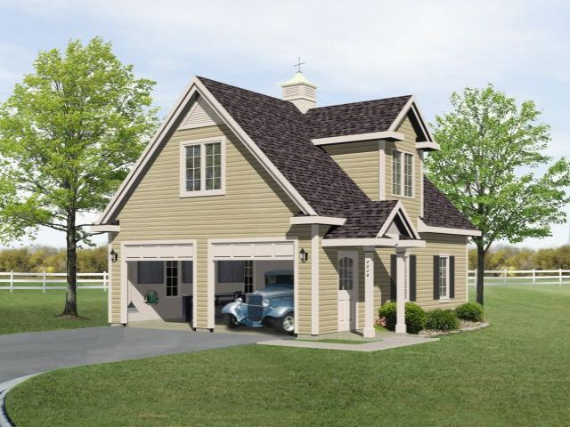 Unique two car garage plan with loft garage plans with for Two car garage with loft