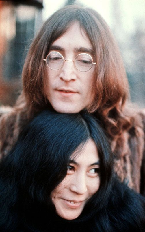 "John Lennon and Yoko Ono....saw them just walking down a street in California. I was with my mom and my mom said ""Oh my, you're John Lennon!"" John responded....""Well, that all depends. If you like him, yes I am! If you don't, I don't know the chap!"""