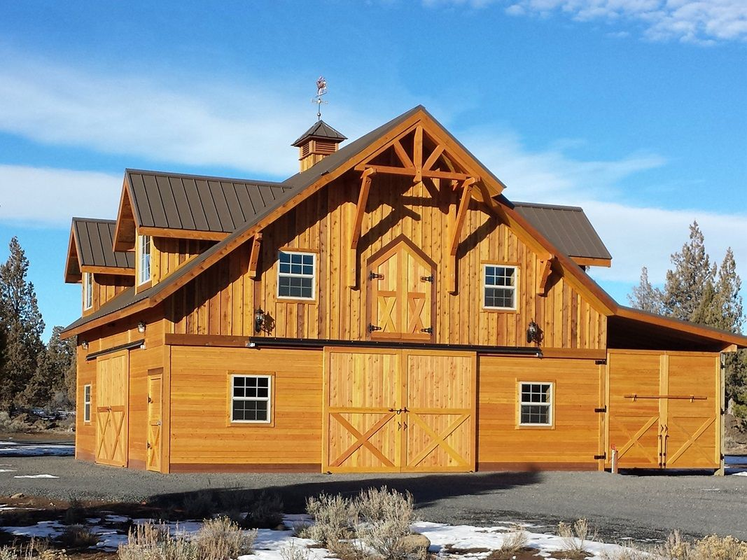 Denali Apartment Barn with Loft - Barn Pros shown with handmade ...