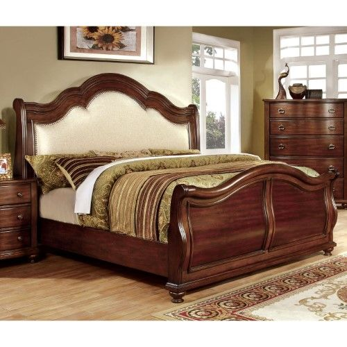 Furniture Of America Meveena Sleigh Bed Red Products