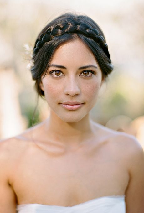 Pleasing A Romantic White And Blush Flower Crown Wedding Your Hair And Short Hairstyles Gunalazisus