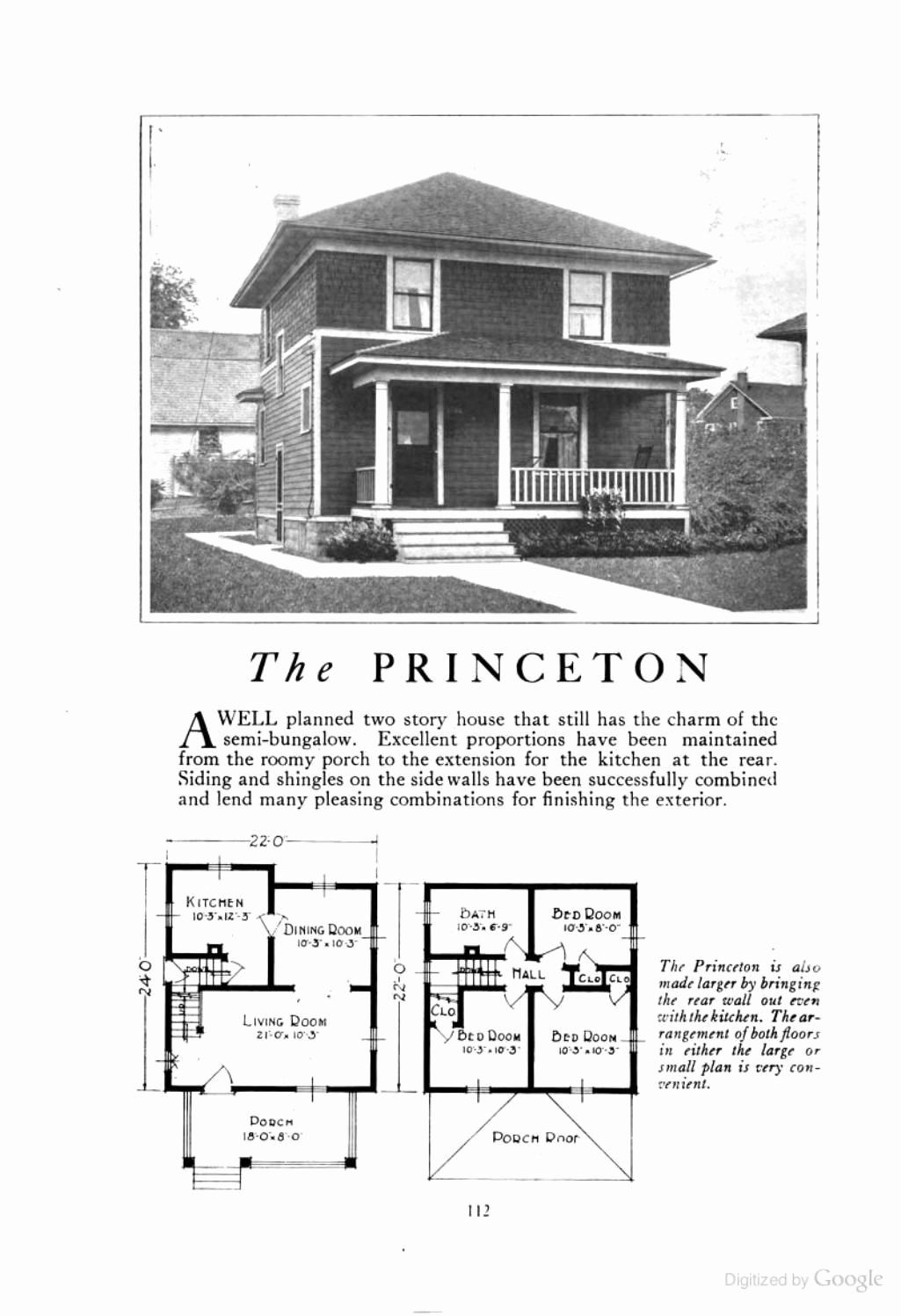 4 Square House Plans Inspirational The Princeton An American Foursquare Kit House House Plan In 2020 Four Square Homes Square House Plans House Plans