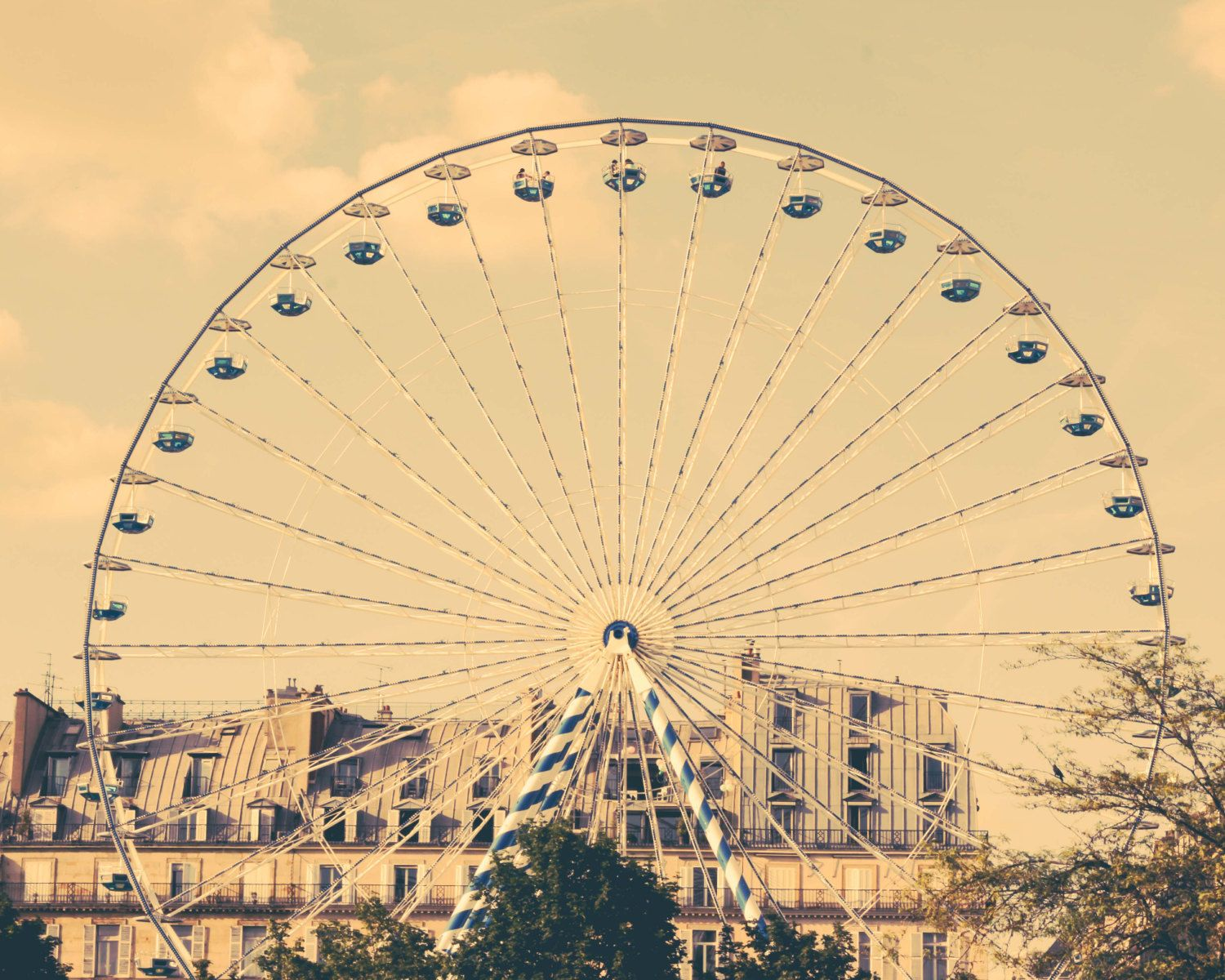 Paris Photography, Paris wall art, ferris wheel, vintage, Paris ...