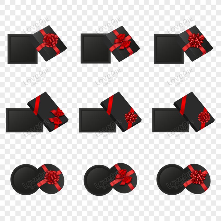Black Gift Boxes Vector Gift Box Web App Design Ribbon Png