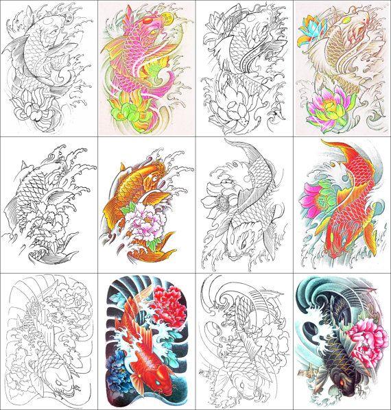 Koi Fish Coloring Book 24 Printable Pages