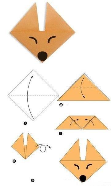 Wunderschne Tiere aus Papier falten  Schablonen zum ausdrucken