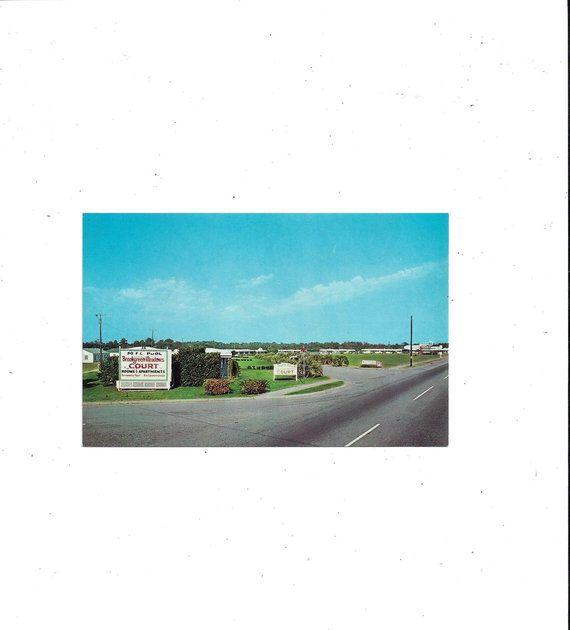 South Carolina Apartments: To USA, 1960s Postcard Of Brookgreen Meadows Court Rooms