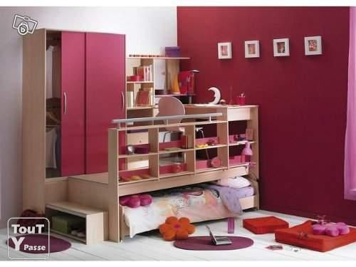 Lit Estrade Chambre Studio : Photo Vend Chambre D Ado Estrade Bureau ...