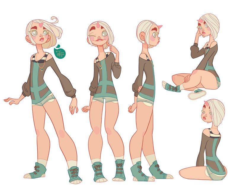 Character Design Web : Art by jessica madorran website meomai